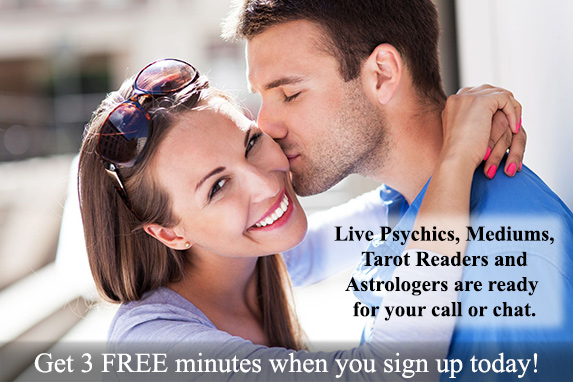 Live Psychics, Mediums, Tarot Card Readers and Astrologers are ready for your call or chat.  Click HERE to get your 3 Free Minute Reading today! Picture of happy couple in love, 123RF Stock Photo by piksel